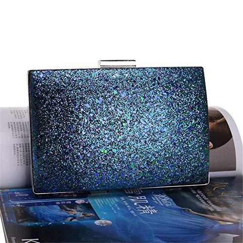 Pochettes Nuptiale de à Noir pour Sac Sac fête Sac Main Bleu Pochette Femme de Couleur Xuanbao soirée Prom soirée w6XHqXR