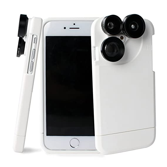 new concept 09e57 fb9e3 Amazon.com: 4 in 1 iPhone 6 Plus /iphone 6s Plus Lens Case Camera ...