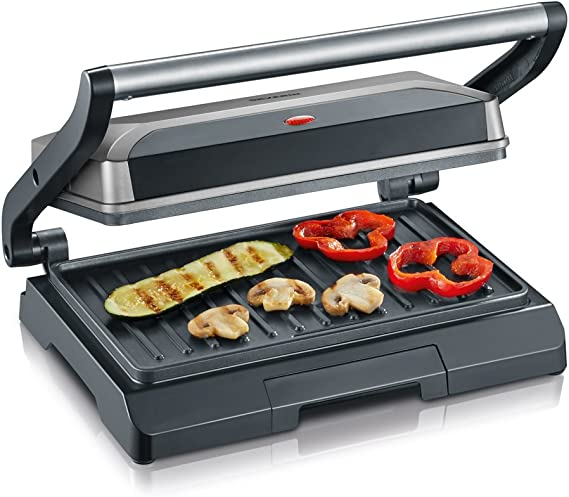 SEVERIN KG 2394 Grill automático y compacto con Slim-Design, 800 W, color gris metalizado y negro: Amazon.es: Hogar