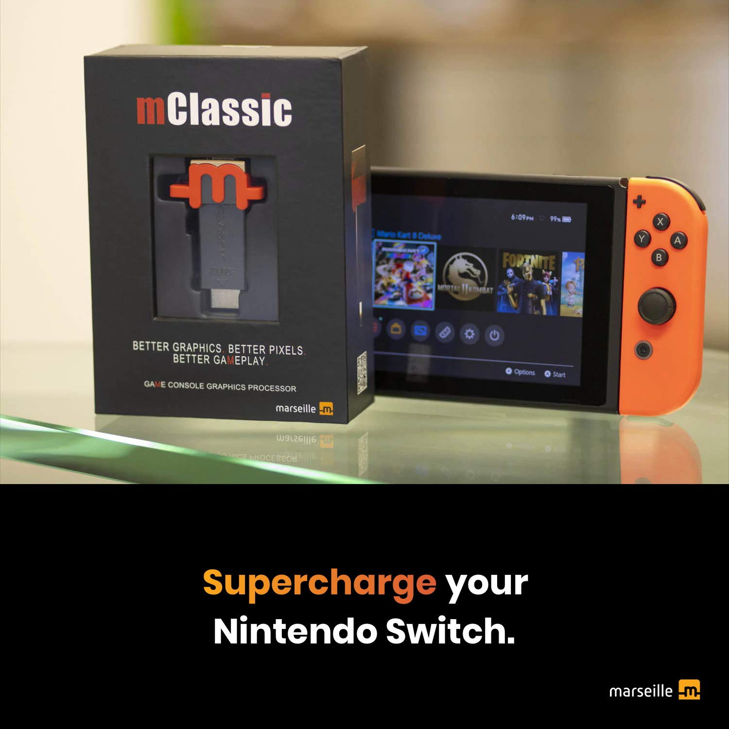 Supercharge Your Nintendo Switch and Retro Game Consoles with mClassic Graphics Enhancer for Real-Time Image Sharpening, Color Correction, Anti-Aliasing and Dot-Crawl Elimination: Video Games