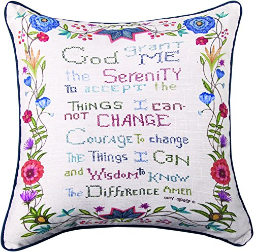 Manual Woodworkers & Weavers Throw Pillow,  God Grant Me The Serenity, - Mall Square One Hours
