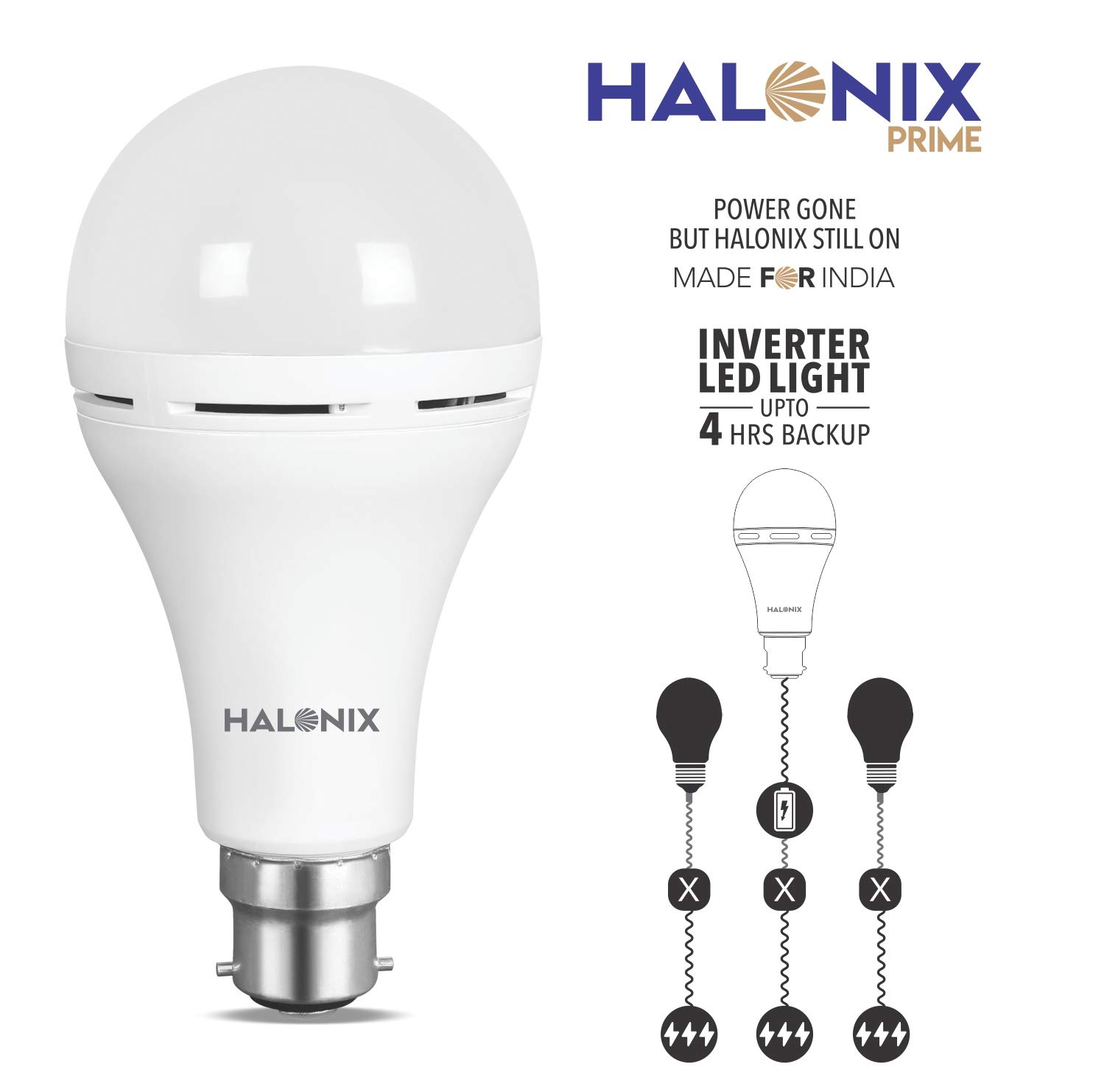 Circuit With Light Bulb And Battery Buy Halonix Inverter Led B22 9 Watt White Online At Low Prices In India