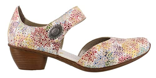 neue Season Heiß-Verkauf am neuesten süß Rieker 43754-90 Ladies Touch Fasten Heeled Sandals Floral Multi