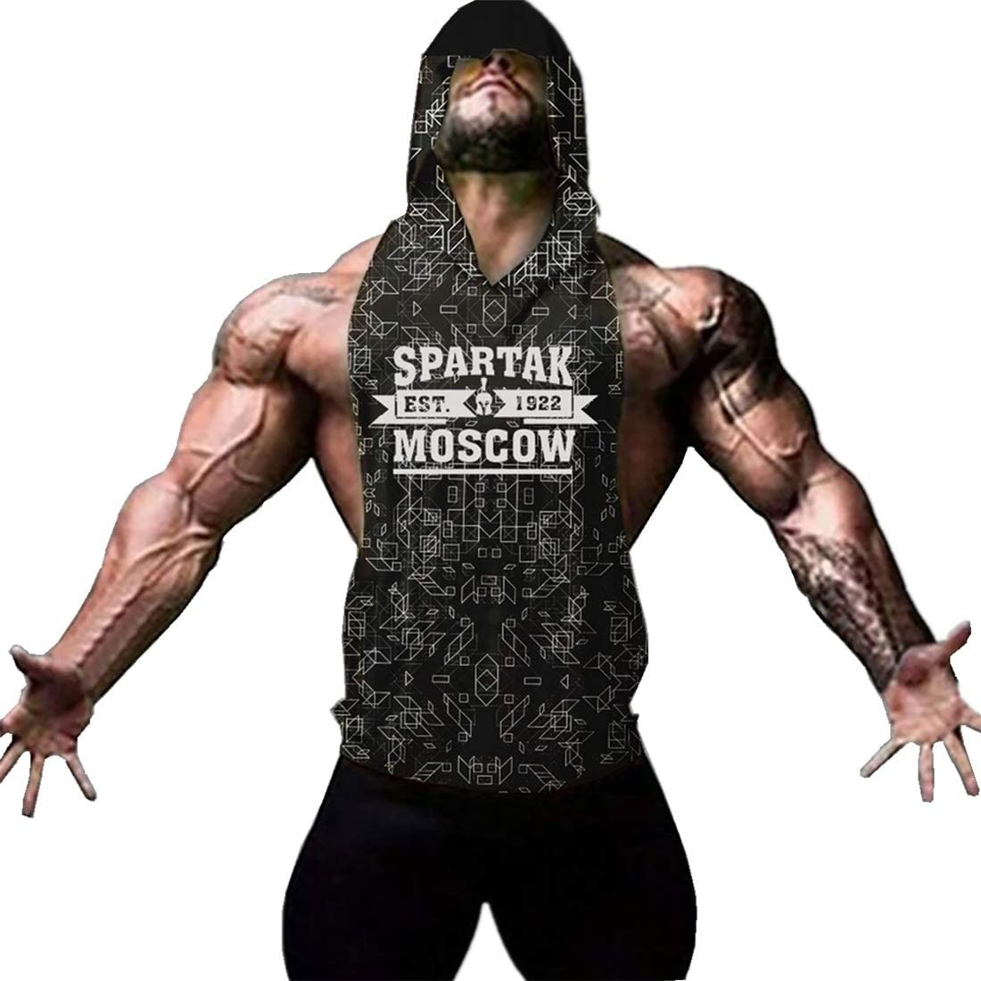 COWBI Herren Tanktop Tank Top Tankshirt T-Shirt mit Charakteristisch 3D Print Unterhemden /Ärmellos Weste Muskelshirt Fitness
