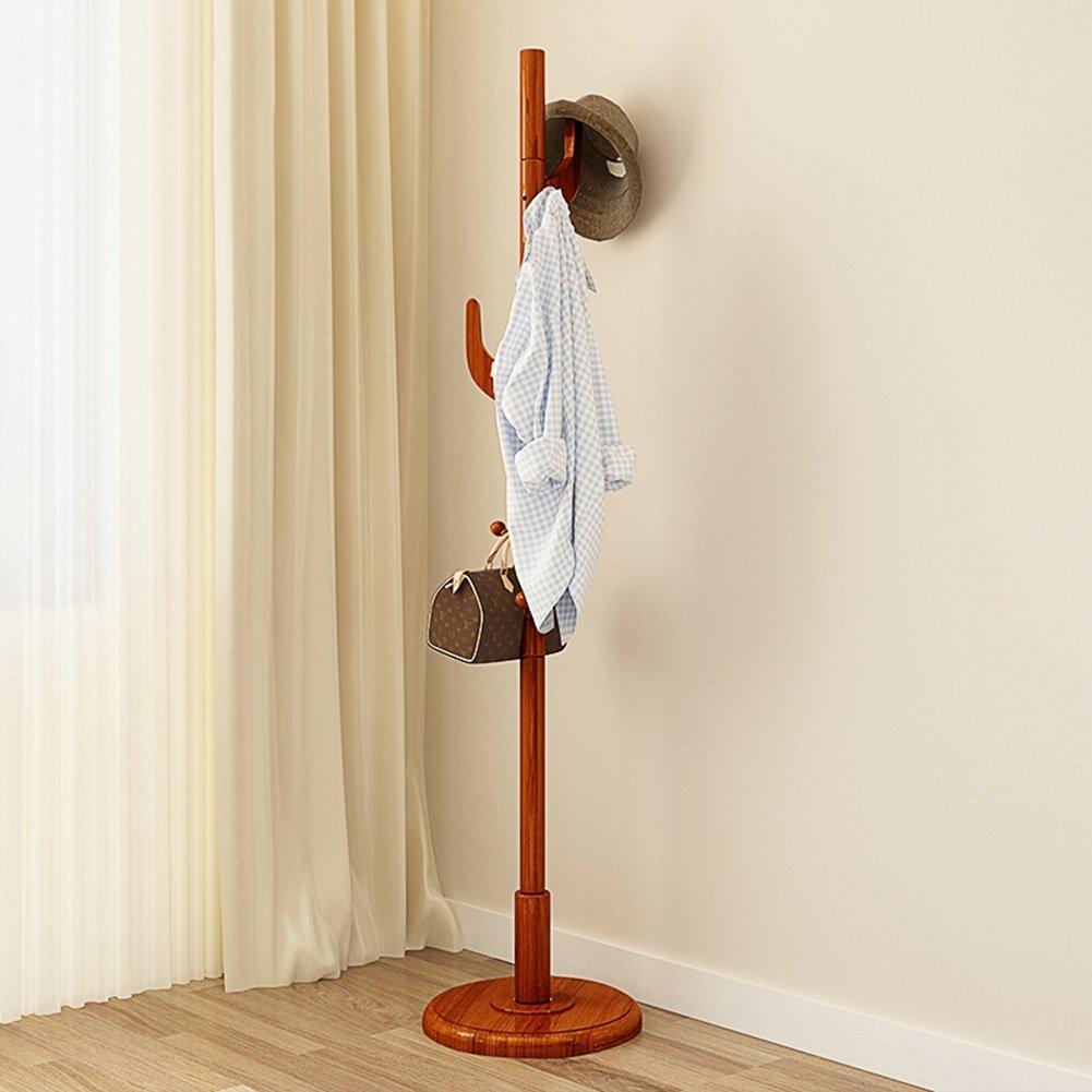 1 CJC Coat Rack Floorstanding Solid Wood 4 Kinds Colour Furniture Home Kitchen Hallway Multifunction (color   1)