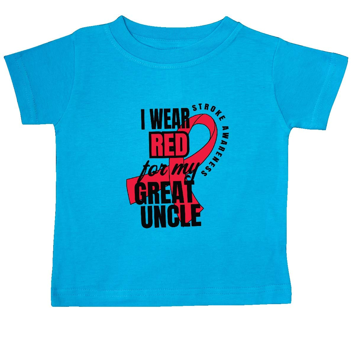 inktastic I Wear Red for My Great Uncle Stroke Awareness Baby T-Shirt