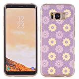 Flower Pattern Galaxy S8 Cover,elecfan Flower Pattern Soft Cover Shell Phone Skin Slim Fit Screen Protective Anti-Scratch Resistant Smart Case for Samsung Galaxy S8 2017 Release (Galaxy S8, A09)