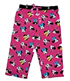Disney Minnie Mouse Womens Pajama Pant With Minnie Face Print - Pink Black