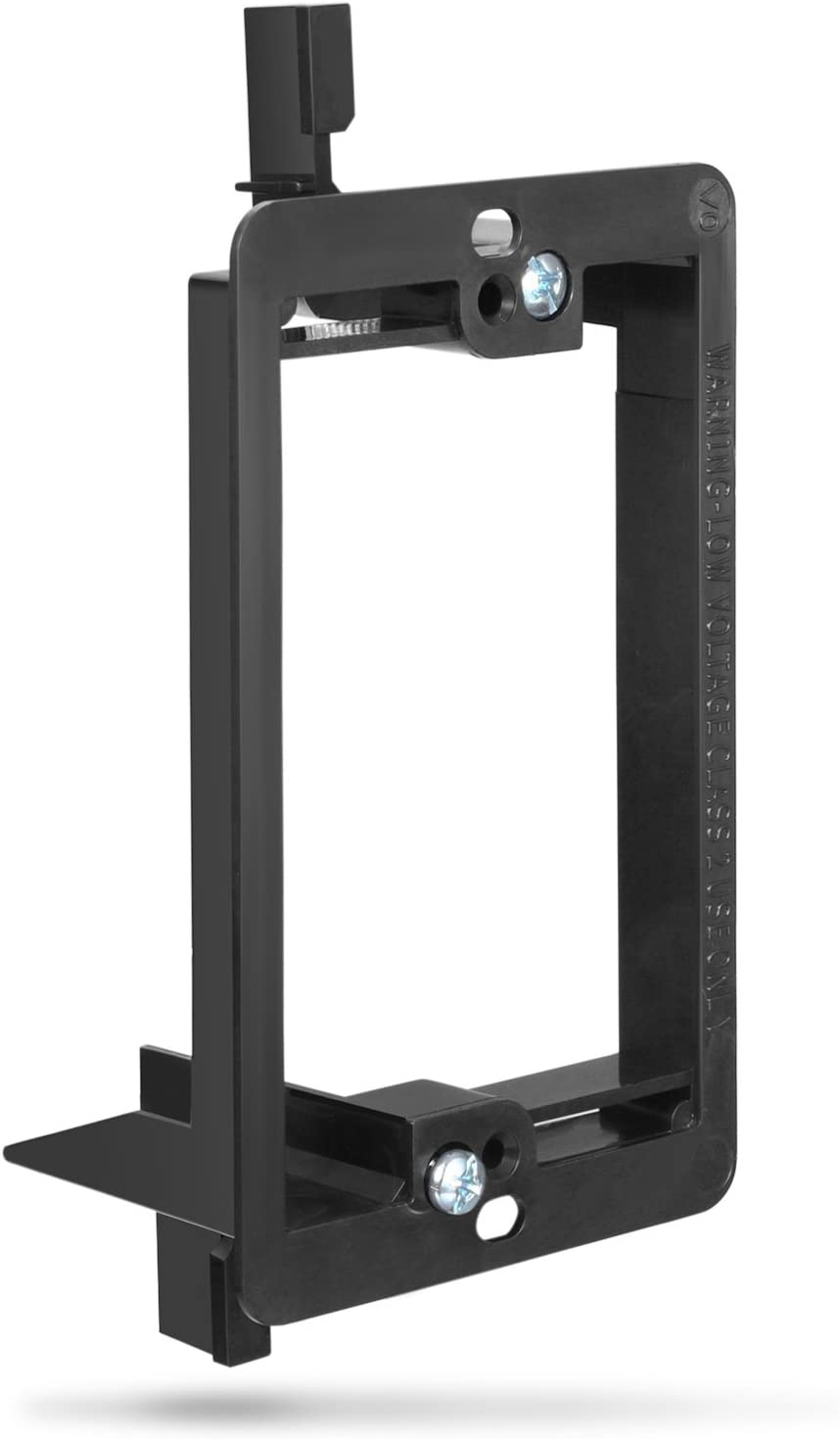 Low Voltage Mounting Bracket (1 Gang), Fosmon Low Voltage Mounting Bracket (Mounting Screws Included) Compatible with Telephone Wires, Network Cables, HDMI, Coaxial, Speaker Cables