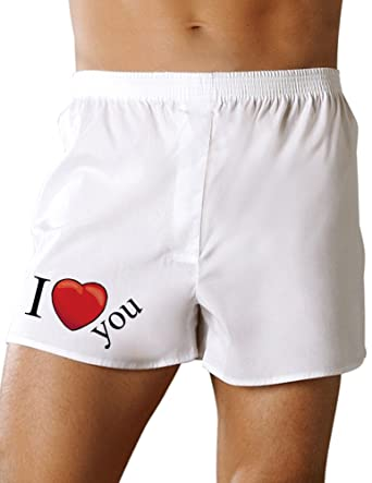 i heart you mens valentines day sexy boxer short underwear small