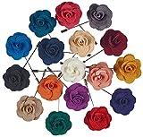 Kyпить Pointed Designs Men's Lapel Pins with Flower, Assorted Colors, 12 Piece на Amazon.com