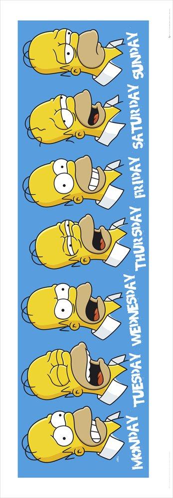 GB eye - Lámina panorámica con diseño de caras de Homer de Los Simpson (33 x 95 cm)https://amzn.to/2VySNN3