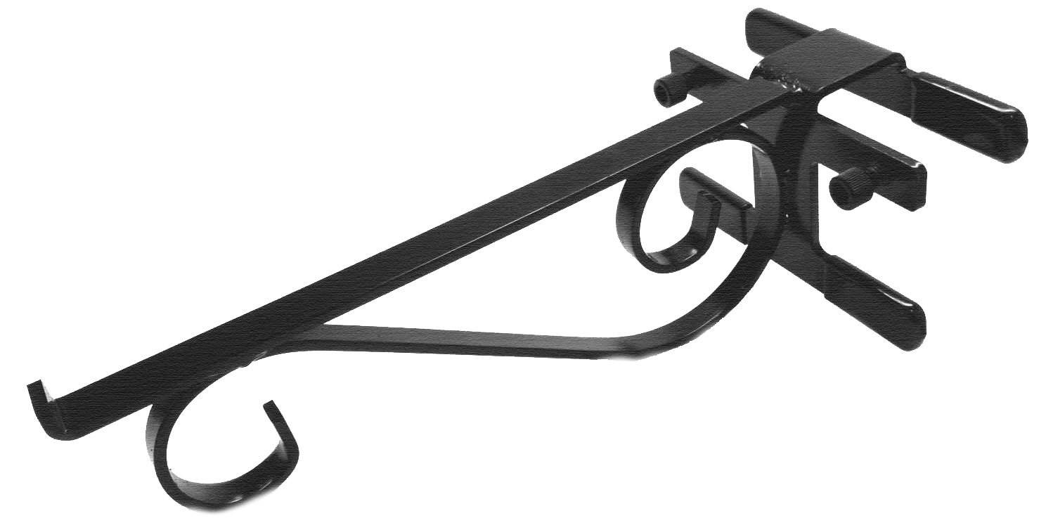 No Screws! No Tools! 12-Inch Powder Coated Steel Hook/Hanger & Shelf Bracket