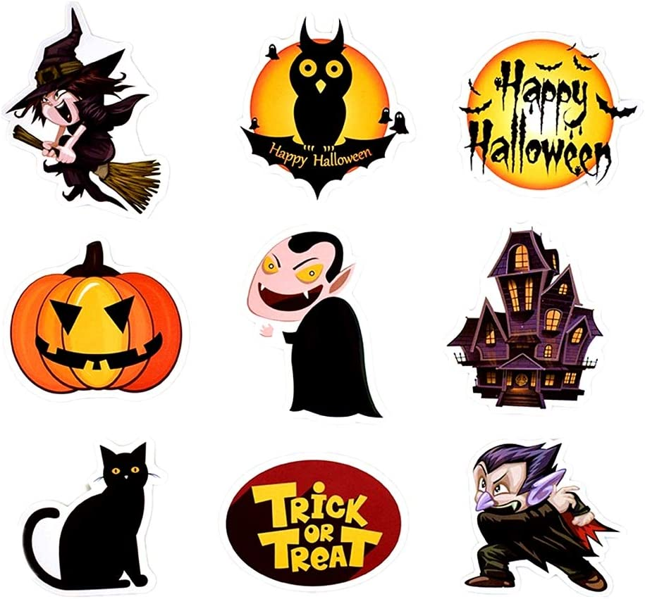 Happy Halloween Stickers Trick or Treat Laptop Stickers Pack 25 Pcs Halloween Decals for Water Bottle Laptops Ipad Cars Luggages