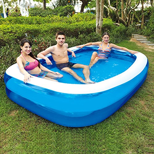 Family inflatable swimming pool/Extra large padded kids pool/Rectangle paddling pool for adults/Childrens baths-A by DJTGREB
