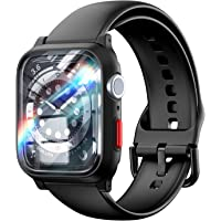 TAURI Obudowy do zegarków z paskiem kompatybilne z Apple Watch 44 mm Series 6 5 4 SE matowe sportowe pokrowce ochronne…