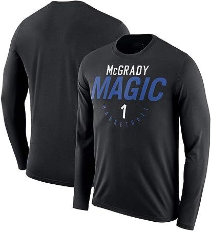 LLSDLS Baloncesto Jersey de Manga Larga Camiseta de Entrenamiento otoño Traje Camisetas de algodón for Hombres de Cuello Redondo Que Basa la Camisa de Baloncesto Deportes Camiseta Camiseta: Amazon.es: Hogar