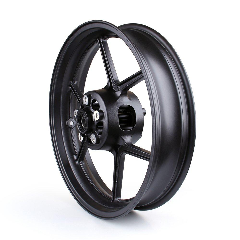 Artudatech Front Wheel Rim For Kawasaki ZX6R 2009-2010 ZX10R 2006-2010 Black by Artudatech (Image #3)