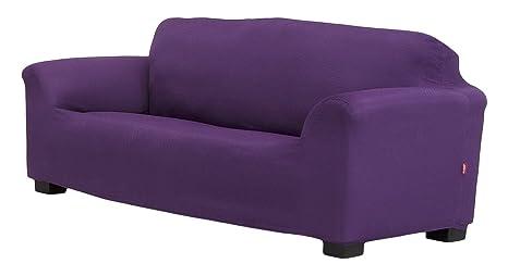 Belmarti Toronto - Funda sofa elástica Patternfit, 2 Plazas, color Malva