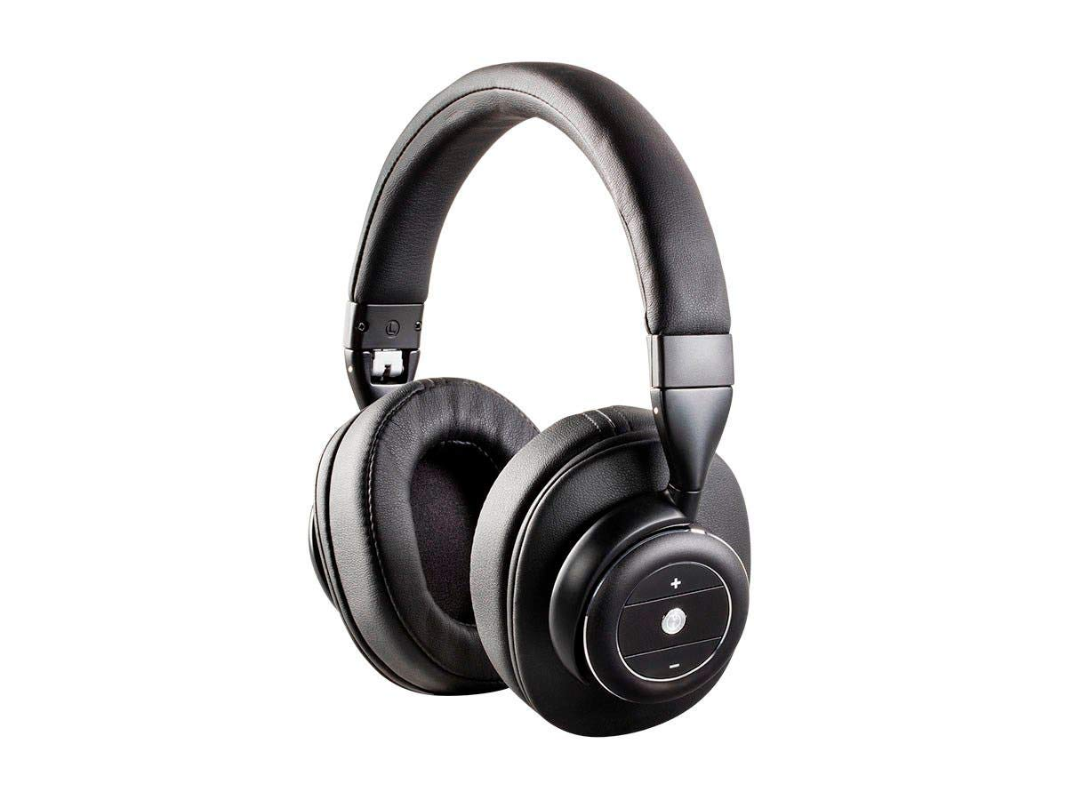 Monoprice SonicSolace Active Noise Cancelling Bluetooth Wireless Headphones - Black Over Ear Headphones