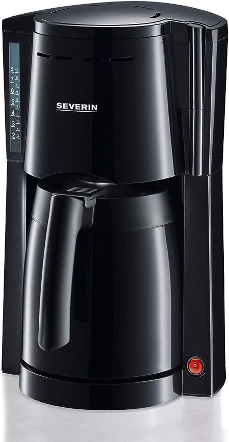 SEVERIN KA 4115 Cafetera para filtros de Café Molido, 8 tazas incluye jarra termo, negro: Amazon.es: Hogar