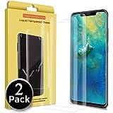 Ferilinso Vetro Temperato per Huawei Mate 20 PRO, [2pack][Full Coverage] [Bubble Free] [Case Friendly] Pellicola Protettiva per Vetro temperato con Garanzia a Vita (Trasparente)