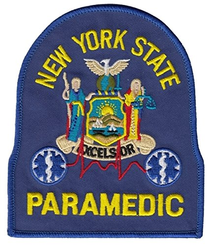 NEW YORK STATE PARAMEDIC (Iron-On) - Paramedic EMT DEPT OF HEALTH - NY State Department of Health - EMT, E.M.T. Paramedic Logo Uniform Patch Embroidered Sign Badge - UNIFORM WORLD ()