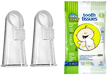 Baby Buddy Wipe-N-Brush & 30 Wipes—Innovative 6-Stage Oral