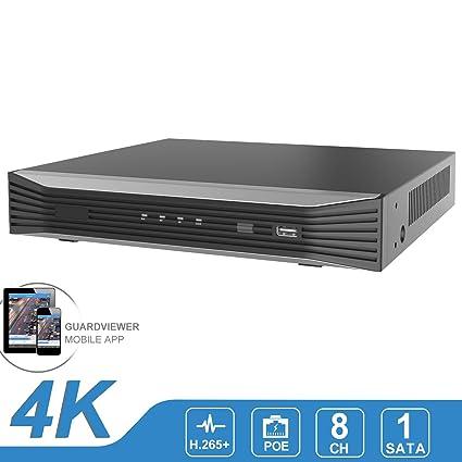 Amazon com : 8CH 4K POE NVR(1080P/3MP/4MP/5MP/6MP/8MP/4K