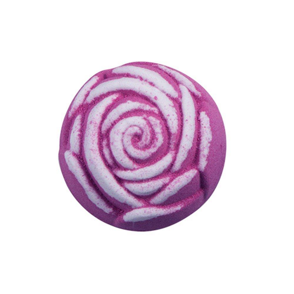 Boule Effervescente Anjou en Forme de Fleure Rose, Bombes de Bain pour Instant Romantique ou Fête, Senteurs Florales
