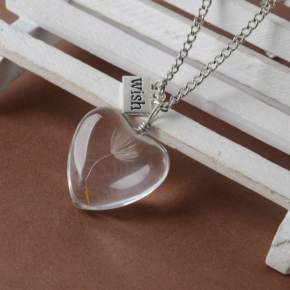 Lxyzx Collar De Mujer Perlas De Vidrio Cristal Celeste Collar ...