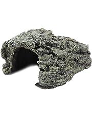FTVOGUE Escondite de Peces Cueva Acuario Tortuga Repollo Basking Ocultar Hábitat Decoración Ornamento Suministros para Mascotas(01)