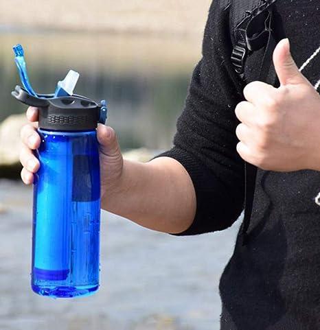 IGRNG Aptitud Botella de Agua al Aire Libre Deportes Botella de ...