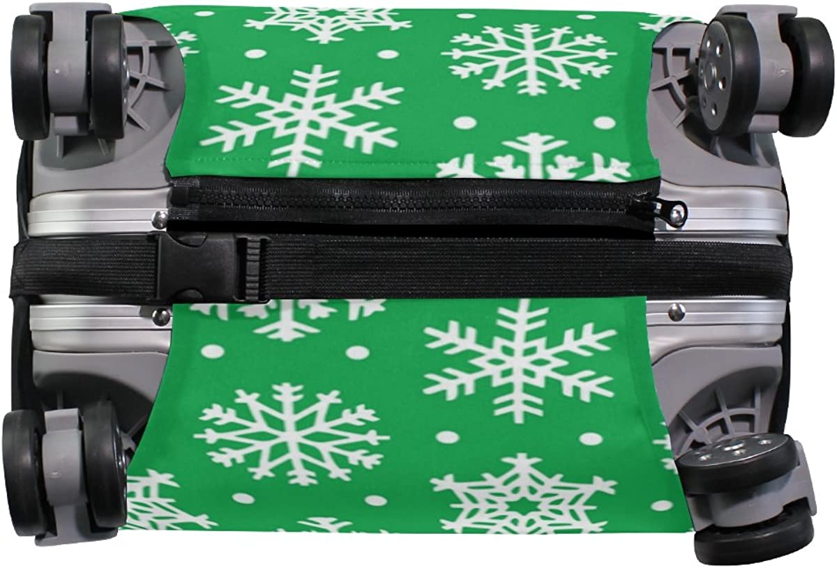 GIOVANIOR Abstract Snowflakes Luggage Cover Suitcase Protector Carry On Covers