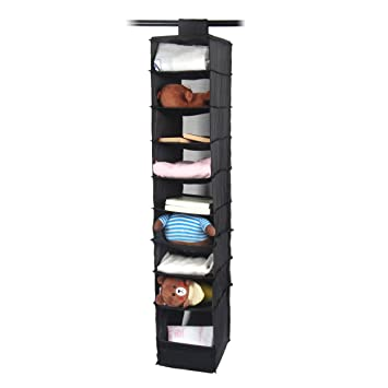 Hanging Closet Shelves Storage Organizer  DeamMai Collapsible Hanging  Clothes Shoe Storage Accessory Shelves With 9