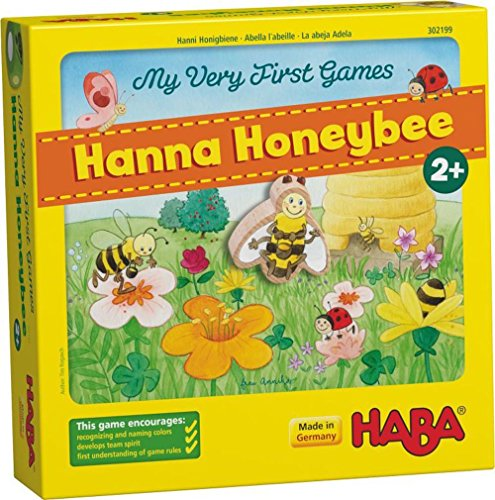 HABA My Very First Games Hanna Honeybee - 2 Cooperative Color Die Games Ages 2+ (Made in Germany) (Haba Bear)