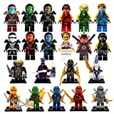 NW 21pcs/Lot NINJA Minifigures Cole Kai Jay Lloyd Nya Skylor Zane Pythor Chen Building Blocks Toys Within Sticker collection from NW Store(Without Original Box)
