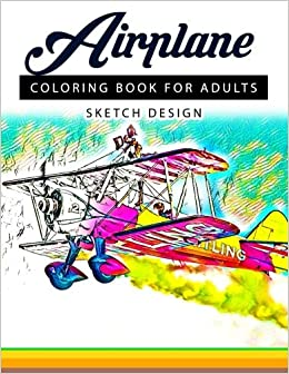 Airplane Coloring Books For Adults A Sketch Grayscale Coloring