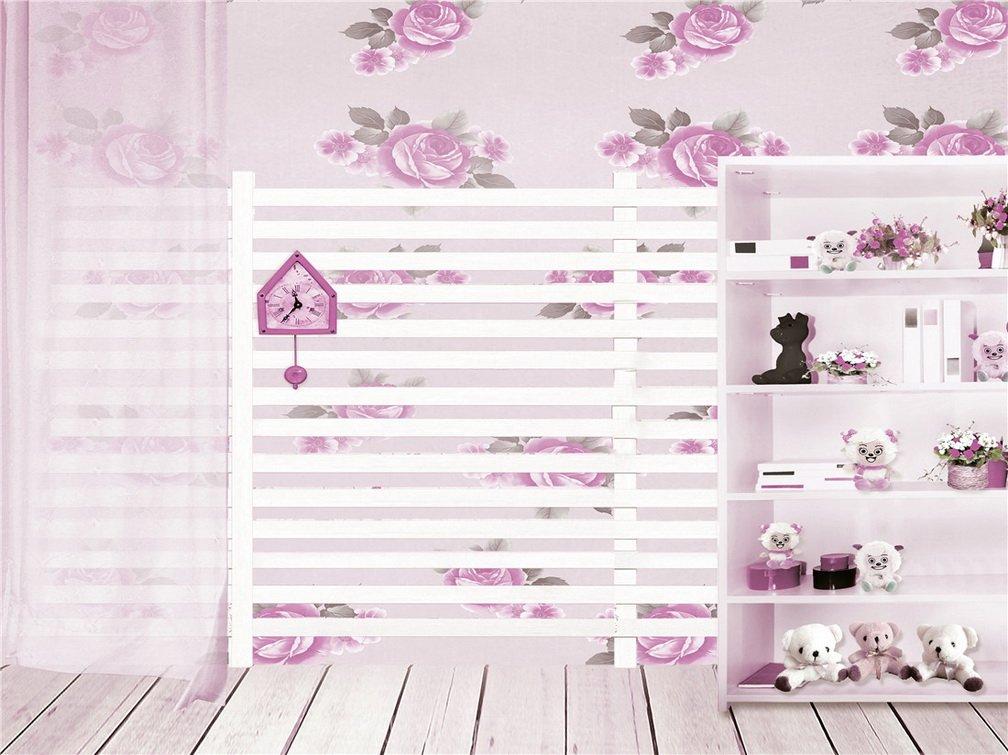 木製床Cute Bearピンク花壁写真背景computer-printedビニールBackdrops 75 ft   B06WVD2PJT