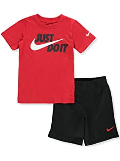 3c9ea8bfc69 Amazon.com  Nike Boy`s Dri-Fit T-Shirt   Shorts 2 Piece Set  Sports ...