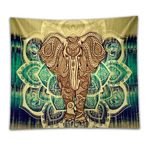 [Beshowereb Fleece Throw Blanket Beshowereb Fleece Throw Blanket Beshowereb Fleece Throw Blanket Jescrich Psychedelic Elephant Large Bohemian Tapestries(MYellow)] (Psychedelic Elephant Baby Costumes)