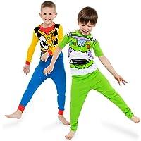Disney Boys' Toy Story 4-Piece Cotton Pajama Set, Green, 6