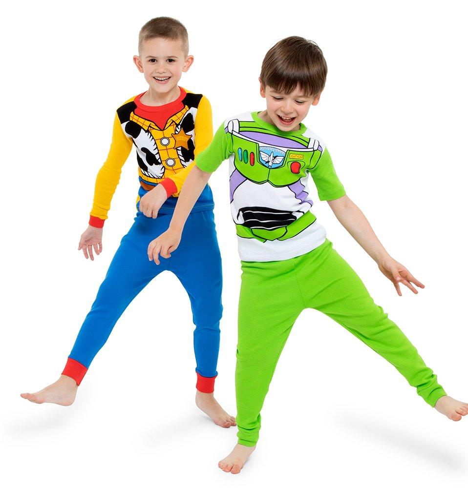 Disney Little Boys' Toy Story 4-Piece Cotton Pajama Set, Green, 4