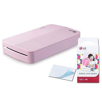Printer+Paper SET] New LG Pocket Photo Printer 3 PD251 [Pink ...