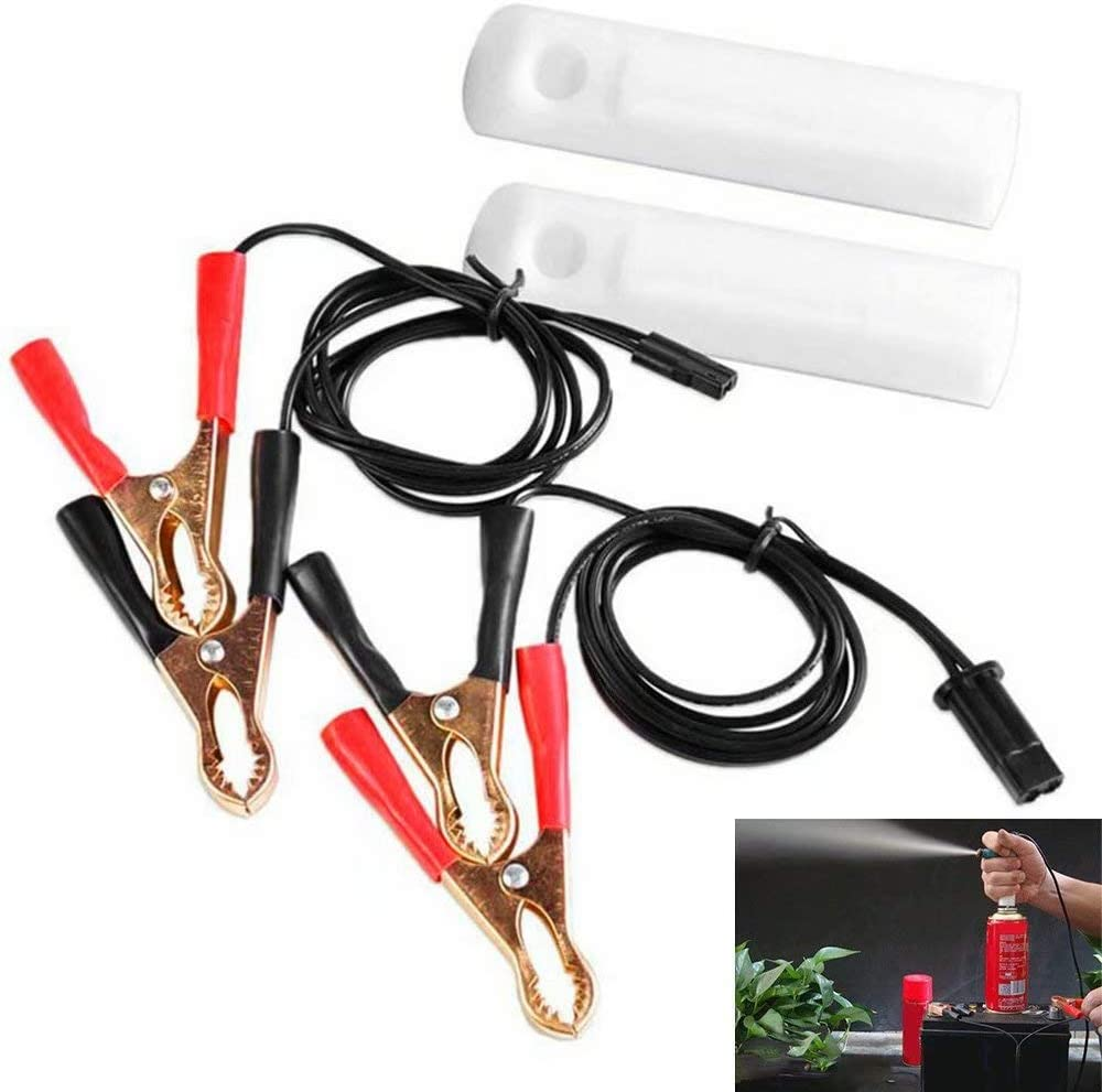 Vehicle Fuel Injector Flush Cleaner Adapter DIY Kit Car Cleaning Tool 2 Nozzles