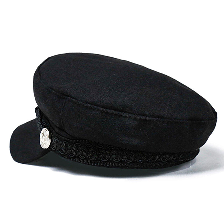 Breton Cap Women Berets Fiddler Mariner Sailor Greek Vintage Unisex Winter Hat