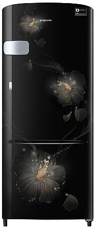 Samsung 192 L 3 Star Direct Cool Single Door Refrigerator(RR20N1Y2ZB3/HL/RR20N2Y2ZB3/NL, Rose Mallow Black, Base Stand with Drawer, Inverter Compressor)