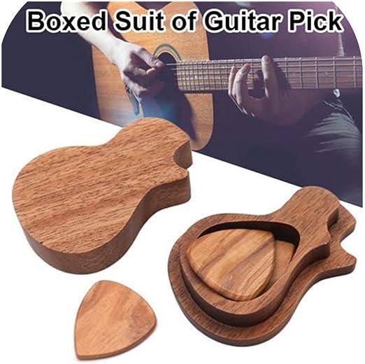 Nearthes Púas de Madera para Guitarra Púas de Madera para Guitarra ...