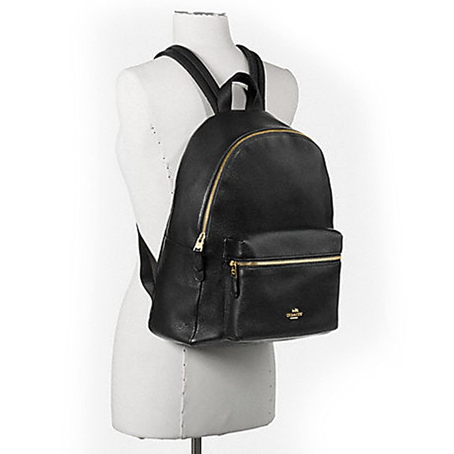 Amazon.com: Coach Pebbled Leather Backpack F38288 Black: Shoes