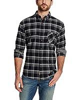 Weatherproof Vintage Men's Lightweight Plaid Flannel Shirt